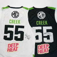 Signed Mitch Creek 55 Inaugural Match-Worn Home and Away Jersey Auction2