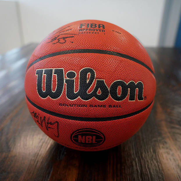 mainInaugural Starting 5 Signed Official Wilson NBL Game Ball Auction0