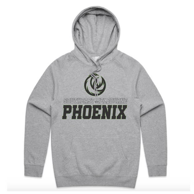 Fire Up Grey Cotton Hoodie2