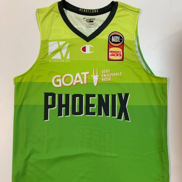 SIGNED Mike Karena 14 NBL21 Match-Worn Phoenix Goes Green Jersey Auction0